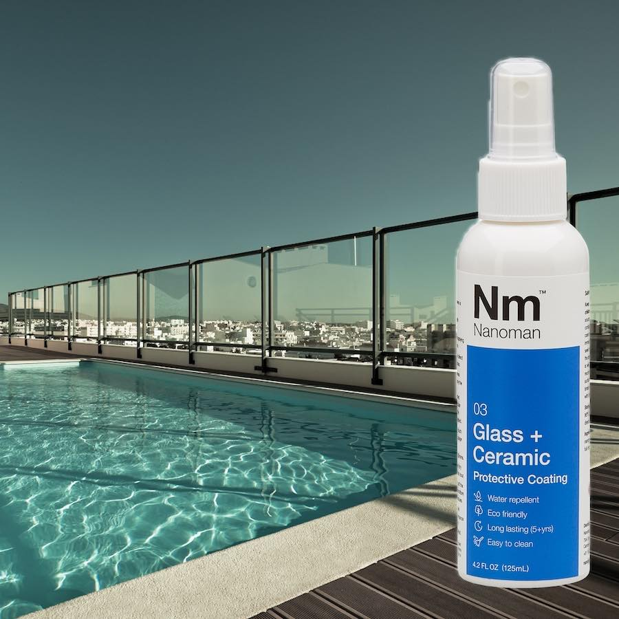 nanoman pool fencing easy clean glass protective coating