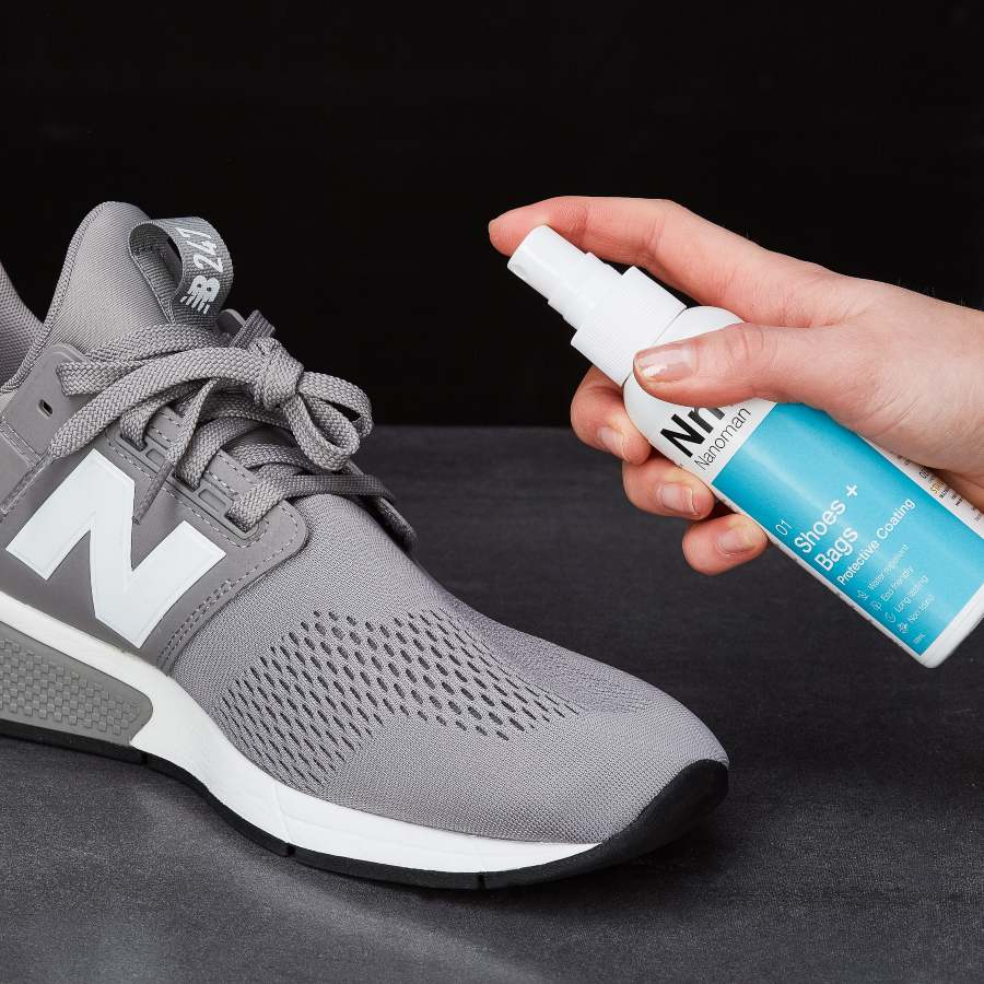 nanoman shoe and bag protection on new sneakers
