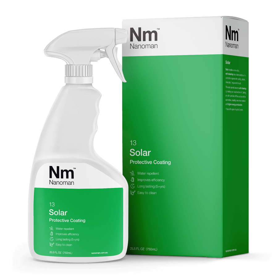 nanoman solar nano coating, easy clean, improve solar efficiency
