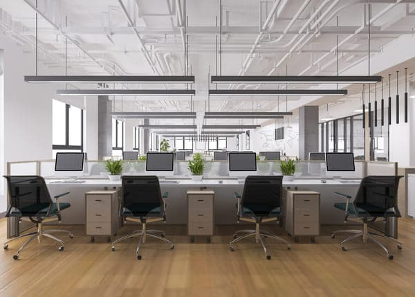 open plan office space protection with nanoman antibacterial 365