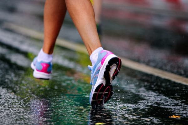 Runners water repellent nanoman shoe protectant running through puddles