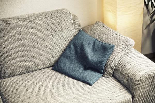 Fabric couch treated with Nanoman Fabric protection