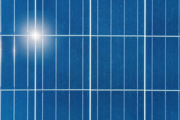 shiny solar panel treated with Nanoman solar protective coating