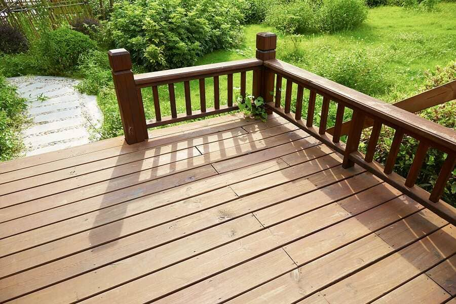 timber decking with nano protection