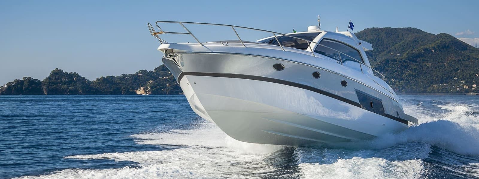 leisure boat with nano protection in water